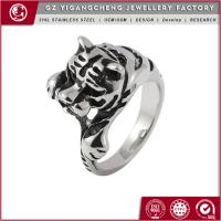 Fashion womens stainless steel casting rings with rhinestones(YGC-0254) Manufactures