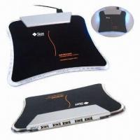 4-port USB Mouse Pads with Illuminant LED Light, Suitable for Notebook, PC, PAD Manufactures