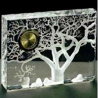 Office Supplies-Crystal Clock & Watch Set (ZB116) Manufactures