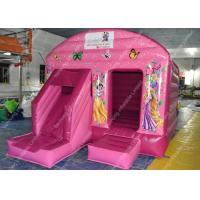 Pink Inflatable Bounce House , Amusement Park Inflatable Bounce Manufactures