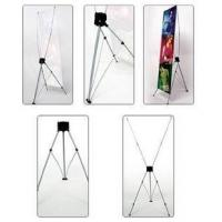 """Adjustable X Stand Banners Pvc Film With Grommets Long Life Printed 32"""" X 70"""" Manufactures"""