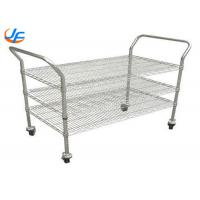 Dining Room Baking Tray Trolley Tea Serving Cart Rolling Cart For Restaurant Manufactures