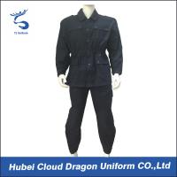 Navy Blue Twill Tactical Combat Uniform Poly Cotton Regular Fit With Elastic Waist Manufactures