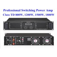 High Power 2 Channel 2U 1800w Class TD Digital Power Amplifier 483*408*89mm Manufactures