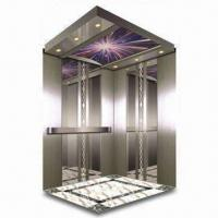 Luxury Passenger Elevator, Auxiliary Board with Hairline Finish, Floor made of PVC Manufactures
