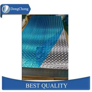 China 4mm Diamond Aluminum Sheet , Anti Skid Aluminum Checkered Sheet Vehicle Floor on sale
