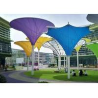 Colorful Tensile Fabric Structures , Roof Shade Structures For Park Shade Metal Frame Manufactures