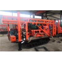 China Diesel Hydraulic Geological Drilling Rig Machine / Crawler Mounted Core Drilling Rig on sale