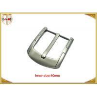 Simple Custom Gunmetal Plating Metal Belt Buckle for Men 40MM Pin Style Manufactures