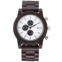 China wooden mens watch men chronograph quartz wrist watch wooden watches wholesale on sale