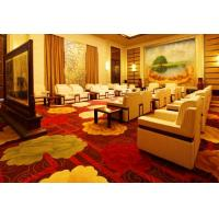 Fashion machine Tufted Cut Pile Area Rugs For Casino , Red Loop Pile Carpet Manufactures