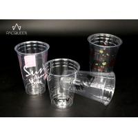 PET Disposable Transparent Plastic Cup , Clear Disposable Cups Manufactures