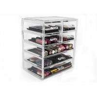 China Supermarket Acrylic Cosmetic Storage Containers Clear Makeup Storage Drawers on sale