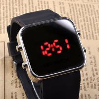 LED Silicone Wristband Watch Black Classic Casual Sport Style Silicone Band Manufactures