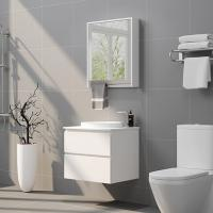 Professional Design Freestanding Bathroom Vanity Round Sink On The Corners Manufactures