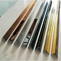 Brushed Finish Gold Stainless Steel Wall Trim Wall Panel Trim 201 304 316 Manufactures