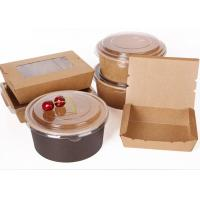 China Biodegradable Packaging Disposable Soup Kraft Paper Bowl Saland Cup on sale