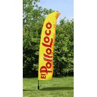Outdoor Business Flags And Banners , Full Color Pull Up Banner 4.6 Meter Manufactures