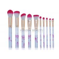 Marvelous Marble Handle Mass Level Makeup Brushes For Facial , High End Manufactures