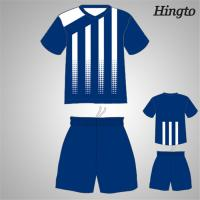 Professional Blue Youth Soccer Team Jerseys Quick Drying Moisture Manufactures