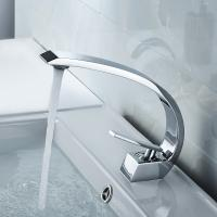 Silver Color Bathroom Basin Faucets , Compact Contemporary Faucets Long Life Manufactures