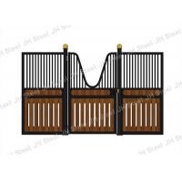 Black Style European Horse Stalls Fronts Panel Steel Pipe Material Manufactures