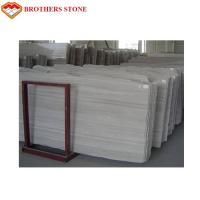 China White Wooden Vein Marble Slabs for Bathroom and Kitchen Floor Tiles Decor with Cheap Prices Manufactures