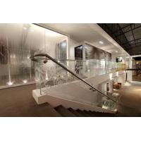 China Transparent Staircase Glass Panels / Optic White Glass , 10mm Thickness on sale