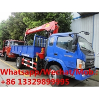 China high quality Forland mini 2tons telescopic crane boom mounted on cargo truck for sale, mobile truck with crane on sale