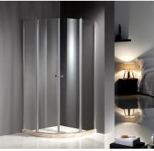 China Chrome Profile 900X900 Quadrant Shower Enclosures , Clear Glass Shower Enclosures on sale