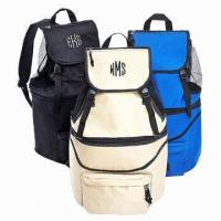 Expandable Cooler Backpack/Cooler Bag with Blue and Navy Blue Colors Manufactures