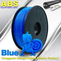 ABS Blue Fluorescent Filament  , 1.75mm / 3.0mm 3D Printer Filament 1kg / Spool Manufactures