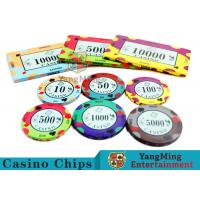 40 / 43mm Diameter Ceramic Casino Chips Bright Colors With Colors Available Manufactures