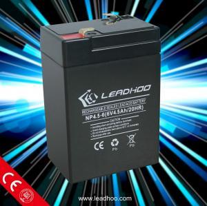 China battery 6v 4.5ah lead-acid battery on sale