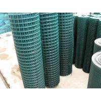 Green stainless steel weld mesh fence panels in roll for decoration