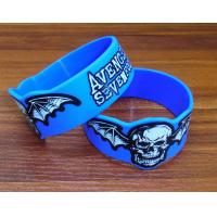 Adjustable Silicone Rubber Parts Silicone Rubber Wristbands With Embossed Print Design Manufactures