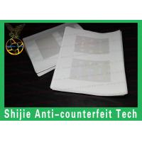 Supply RI / FL / VA hologram overlay for ID card for usa DHL express thick transparent Manufactures