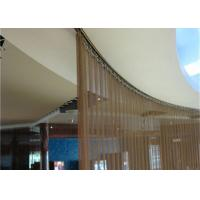 Durable Stainless Steel Mesh Curtain , Cascade Coil Curtain For Meeting Room Manufactures