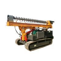 Ground Screw Helical Construction Pile Drilling Machine With 4105 Turbocharged Engine