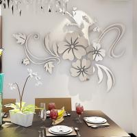 Quality Hot sale self adhesive wall mirror acrylic decoration stickers for sale