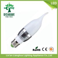 4w LED Candelabra Light Bulbs / e14 Candle Shaped Led Clear Light Bulb Manufactures