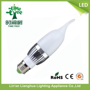 4w LED Candelabra Light Bulbs / e14 Candle Shaped Led Clear Light Bulb Manufactures