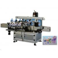 Self Adhersive automatic Double Side Sticker Labelling Machine , Flat / Square Bottle Sticker Labeling Machine Manufactures