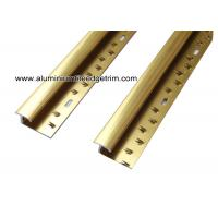 China Versatile Shiny Gold Aluminum Carpet Trim For Ceramic Tile To Carpet Transition  on sale