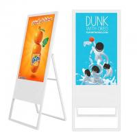 China Portable Mobile 49 inch Floor Stand Poster LCD Advertising Digital Signage Display Boards Price for Supermarket Restaura on sale