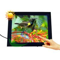 Industrial 15 Inch High Brightness LCD Monitor Wall Mount For Shopping Malls Manufactures