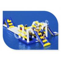 Hot! ! 0.9mm PVC Inflatable Aqua Slide, Inflatable Floating Water Slide for Lake Manufactures