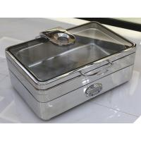 Electric Rectangular Chafer Stainless Steel Cookwares Digital - display Temperature 1/1 GN Food Pan Mirror Finish
