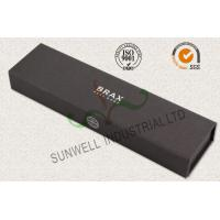 Luxury Black Color Office Paper Box , Spot UV Coating Cardboard Packing Box Manufactures