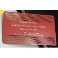 China Customized Stainless Steel Card, Metal Business Cards With Logo Engraved / Printed on sale
